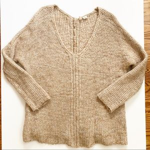 MOTH Anthropologie Channel Chain Oversized Sweater
